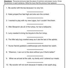 pronoun worksheet free worksheets library download and print
