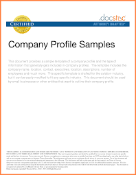 Attorney Letter Head by 6 Food Company Profile Sample Company Letterhead