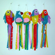 assorted color fish wind ornaments