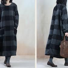 women cotton dress maxi dress large size from linendress88 on