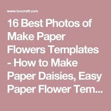 25 unique paper flower template printable ideas on pinterest