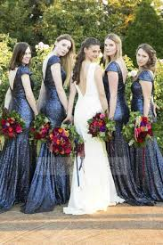navy blue bridesmaid dresses shop discount low back sleeve navy blue sequined