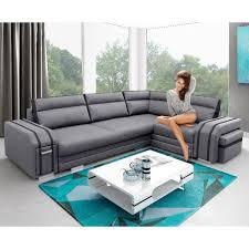 canapé avec pouf canapé angle droite gris et noir avec pouf et rangement avatar dya