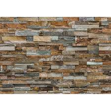 colorful stone wall mural brewster home fashions touch of modern colorful stone wall mural