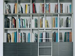 Silver Bookshelf Furniture Exciting Library Ladder Ikea For Home Furniture Ideas