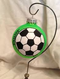 personalized soccer ornament soccer by brushstrokeornaments