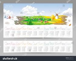 calendar 2018 year all year round stock vector 728879227