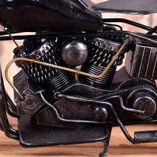 home ornaments vintage motorcycle model retro motor figurine iron