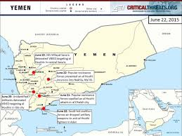 Where Is Yemen On The Map 2015 Yemen Crisis Situation Report June 30 Critical Threats