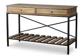 Metal And Wood Sofa Table by Baxton Studionewcastle Wood And Metal Console Table Criss Cross