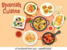 cuisine dinner cuisine healthy dinner dishes icon with seafood eps