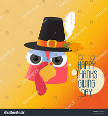 thanksgiving day poster styled turkey stock vector