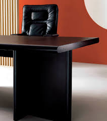 executive desk wooden leather contemporary big superbig by