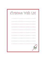 List Template Christmas Wish List Template 8 Free Templates In Pdf Word