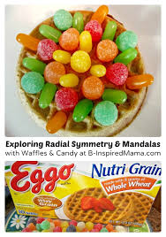 Eggo Toaster Waffles Make Waffle Mandalas For Fun Kids Snacks