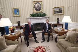 trump living room 11alive com photos president obama and donald trump meet in
