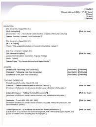 four types of resumes u2013 template design