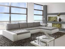 canape cuir blanc et gris canapés banquettes meubles page n 6