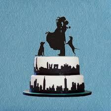 custom wedding cake topper bride and groom wedding silhouette