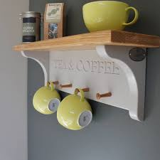tea and coffee shelf with mug rack by chatsworth cabinets