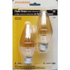 sylvania decorative light bulbs sylvania 2 pack 40 watt amber decorative incandescent light bulbs