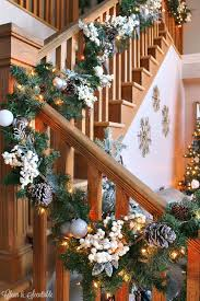 how to hang a garland on the stairs clean and scentsible