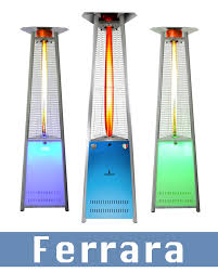 outside patio heaters lhi121 122 ferrara led style outdoor patio heaters outdoor flame