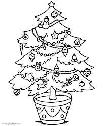 printable christmas pages for coloring christmas tree coloring pages