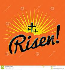 risen christian easter text illustration stock vector image
