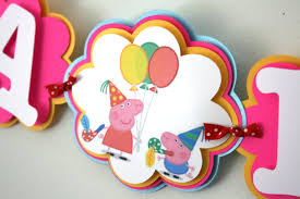 peppa pig birthday peppa pig inspired birthday banner peppa pig birthday