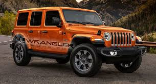 unique jeep colors 2018 jeep wrangler rendered with newly leaked color options carscoops