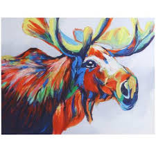 the art of discovery stylecraft l style craft acrylic moose painting print on canvas products