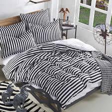 striped black and white bedding sets leopard 3pcs 4pcs black