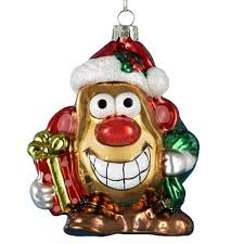 mr potato glass ornament