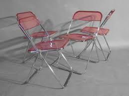 Lucite Folding Chairs Lucite Folding Chairs Lucite Folding Chairs Afford Extra Comfort