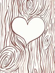 initials carved in tree carving clipart