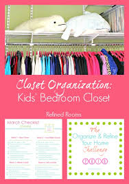 kids u0027 bedroom closet organization refined rooms