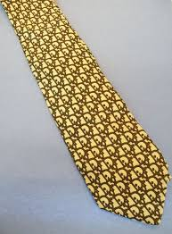 christian dior logo print camel brown print silk tie from
