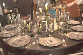 wedding reception table ideas platinum and black sophisticated wedding table decorations for