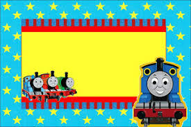 thomas train free printable invitations parties