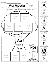 alphabet apple tree letter sort i love the how different fonts