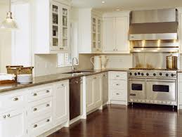 off white kitchen cabinets with stainless appliances kitchens creamy white kitchen cabinets glass front cabinets