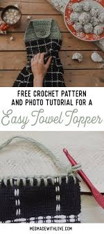 pattern crochet towel holder new free crochet pattern for an easy towel topper megmade with love
