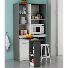 rangement pivotant cuisine meuble de rangement gris avec plateau pivotant dya shopping fr