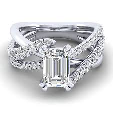 white emerald rings images Zaira 14k white gold emerald cut engagement ring er12337e6w44jj jpg