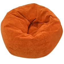 gold medal sueded corduroy jumbo orange bean bag chair overstock