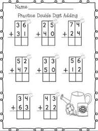 addition with and without regrouping digit addition with traceable boxes free on tpt in