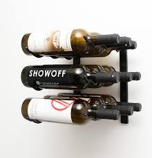 1 u0027 wall mount 9 bottle wine rack brushed nickel finish