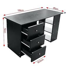 bureau informatique noir bureau ordinateur noir bureau informatique meuble dordinateur noir