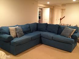 Klaussner Replacement Slipcovers Denim Sectional Sofas Denim Sectional Sofa Left Right Arm